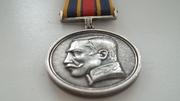Медаль серебрянная,  восточная на колодке