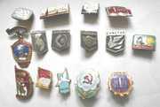 коллекцию значков с 1950 по 2000гг разной тематики